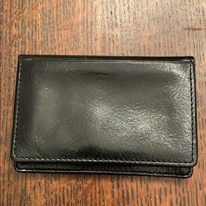 DOPP Black Italian Cowhide card holder wallet